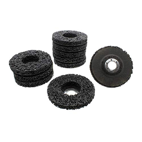 ABN Rust and Paint Stripping Disc Set - 4.5in Angle Grinder Paint Remover Disc 10 Pack Grinding Wheels with 7/8in Arbor