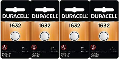2 X 4 Pcs Fresh Duracell Lithium Battery ECR1632 CR1632 DL 1632 3V Batteries