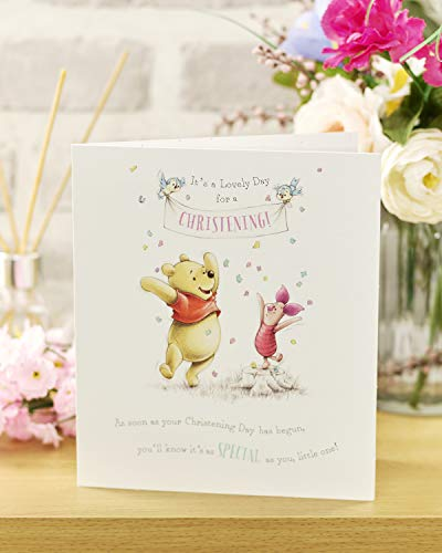 Product Image 3: Congratulations Christening Card – Christening Day Card, Winnie the Pooh and Piglet – Ideal Gift Card for Christening – Disney