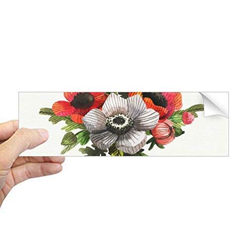 DIYthinker Bloemen Plant Schilderij Maïs Papaver Rechthoek Bumper Sticker Notebook Venster Sticker