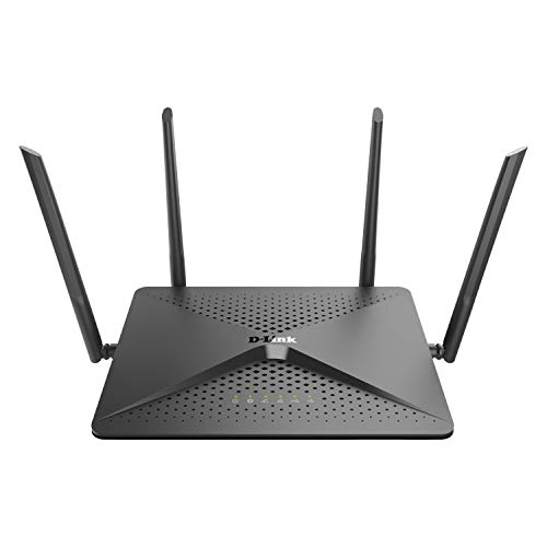D-Link EXO WiFi Router, AC2600 MU-MIMO Dual Band Gigabit 4K Streaming and Gaming with USB Ports, 4x4 Dual Band Wireless Internet for Home (DIR-882-US)
