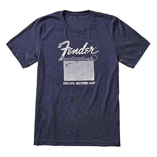 Fender® Camiseta Deluxe Reverb, Azul, XXL