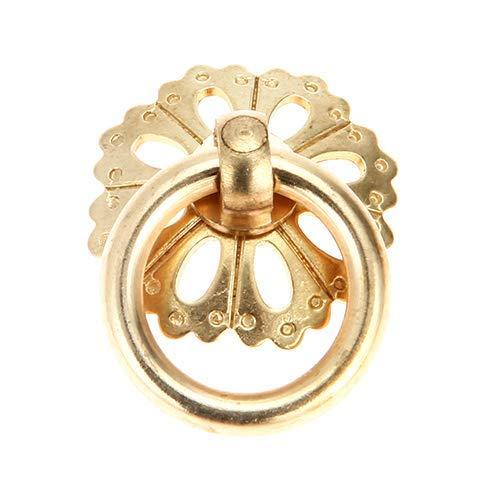 Piore 1 St Brons Kleine Kast Handgrepen Trekt Vintage Houten Sieraden Doos Trekknoppen Deur Ring Meubels Handgrepen, 25mm Messing