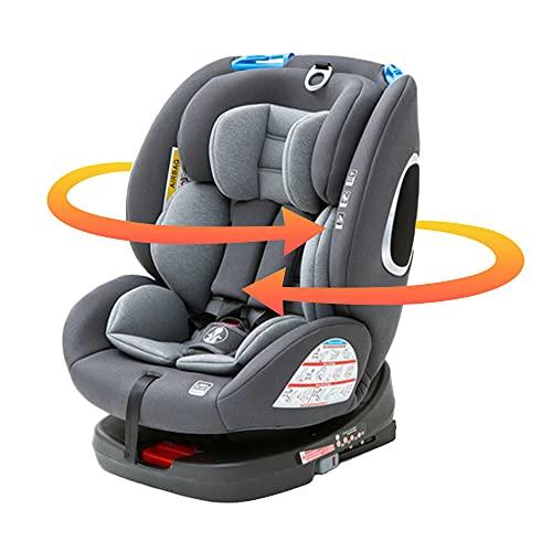アイリスプラザ ISOFIX固定 チャイルドシート 回転式 新生児から ジュニアシート ベビーシート 乗り降りらくらく ECE R44合格 1年保証 ブラック 0か月~ (1年保証) 4571303934027