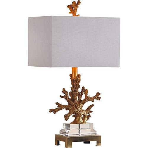 GUOXY Lámpara de Mesa Simple Moderno Creativo Coral Cristal Decorativo Lámpara de Mesa Dormitorio Dormitorio Sala de Estar de Estudio Lámpara de Mesa,Blanco