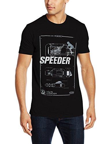 Rockoff Trade Rey's Speeder Tech T-Shirt, Noir (Black), XL Homme