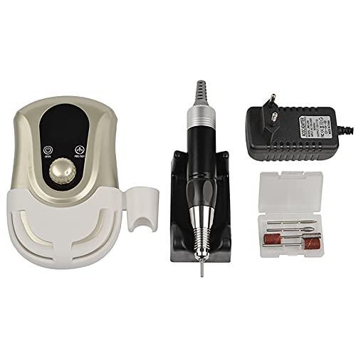 FDYZS Máquina eléctrica de Taladro de uñas, aspiradora de Clavo colector de Polvo de uñas máquina de curado de uñas Herramienta de manicura,Oro