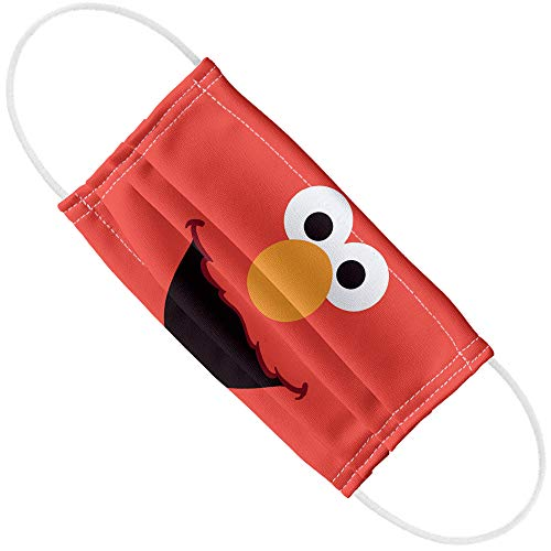 Sesame Street Elmo Face Face 1-Ply Reusable Face Mask Covering, Unisex