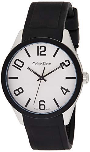 Calvin Klein Reloj Analógico para Hombre de Cuarzo con Correa en Silicona K5E51CB2