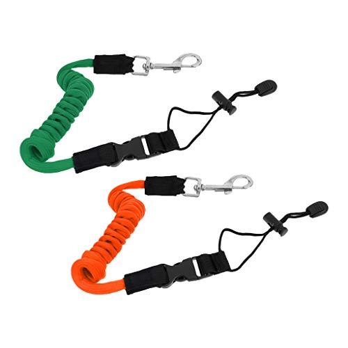 F Fityle 2 Unids Cordón Elástico de Seguridad para Remos Bolsos Accesorios para Kayak Caña de Pesca