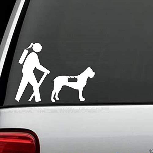 myrockshirt Wanderin mit Hund wandern Rettungshund Aufkleber,Sticker,Decal,Autoaufkleber,UV&Waschanlagenfest,Profi-Qualität