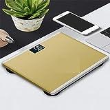 Yi-xir Fashion Design Pesatrice Elettronica del bilanciamento del Peso della Famiglia della pesatura Elettronica Wireless Smart Digital (Color : Rose Gold, Size : A)