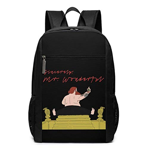 Lawenp Action Bronson Mr. Wonderful Backpack 17 Inch Laptop Bags College School Backpack Casual Daypack for Travel