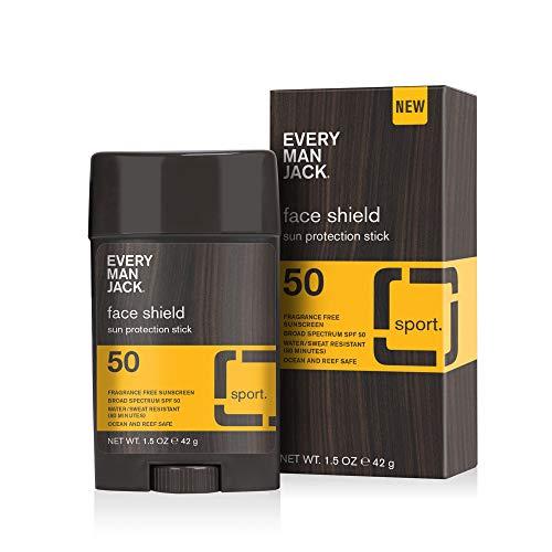 Every Man Jack SPF 50 Face Shield, Sun Stick, 1.5-ounce