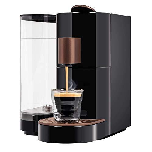 K-fee Twins II Kaffeekapselmaschine, (1455 Watt, 2,3 Liter Wassertank, Farbe Schwarz-Kupfer)