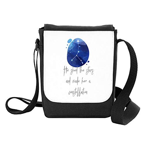 Zodiac Star Sign Cancer He Shed The Stars and Made Her A Constellation Shoulder Bag - Small