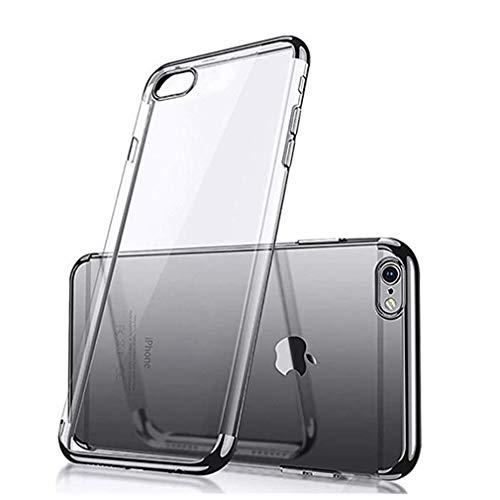 Yenks - Carcasa para iPhone 8 (TPU), transparente Negro  Talla única