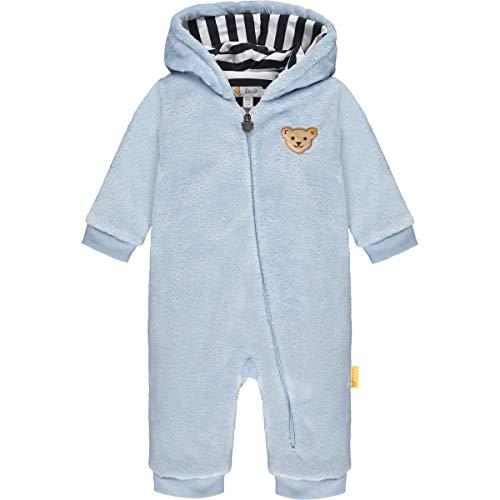 Steiff Baby-Jungen mit süßer Teddybärapplikation Einteiler, Kentucky Blue, 068