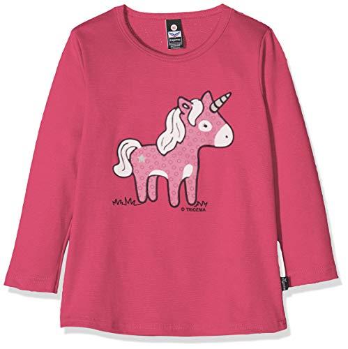 Trigema 102535019 T-Shirt, Violet (Hibiskus 038), 95 (Taille Fabricant: 80) Mixte bébé