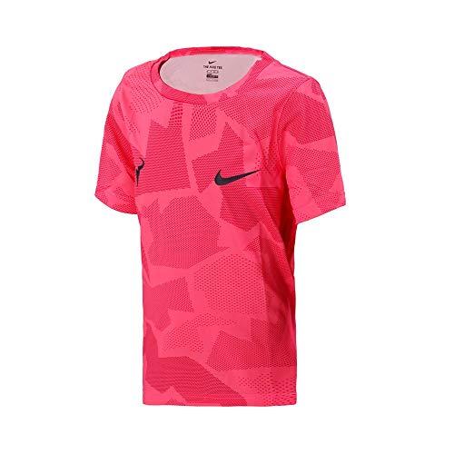 NIKE Nikecourt Dri-Fit Rafa Shirt, Blanco/Rosa Digital/Rosa Vivo, S Boys