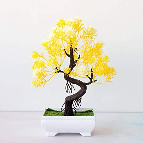 N-B Planta en Maceta de árbol de Pino Artificial Multicolor decoración del hogar decoración del gabinete del Hotel Planta Falsa Bonsai