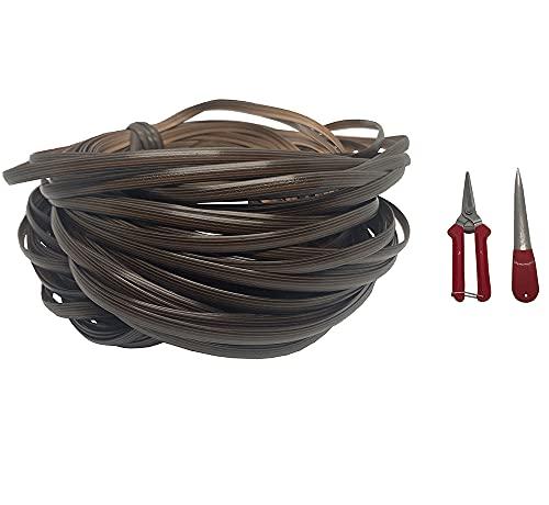 jadlahf El Kit De Reparación De Material De Ratán Marrón (ratán + Herramientas De Tejer) Es Adecuado para Reparar Y Tejer Cestas, Mesas Y Sillas Y Muebles De Exterior.