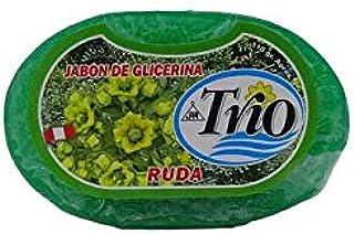 Jabon de Ruda (Perú) 110 g, marca Trio con hoja de ruda