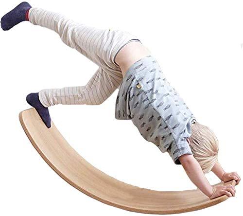 Placa Tabla de Equilibrio de Las pensiones niños Viga de Balance, Cuenta con entradas balanceadas Tabla Sala de Arco para los niños, la habitación para Pose Yoga, Equilibrio Ejercicio