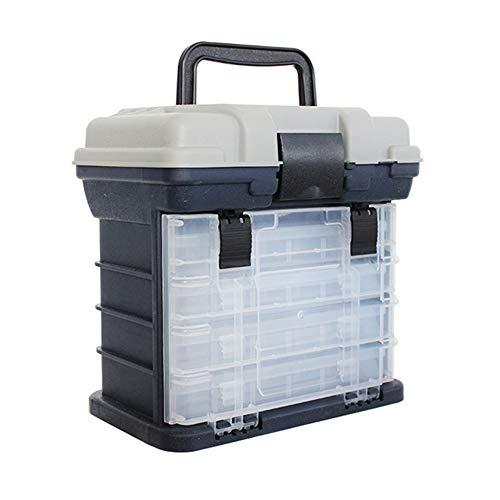 ZSY Boîte de pêche à 4 Couches, Conception à Double Couche, Facile à Transporter, Petit et Compact, Plastique Haute résistance, pour Pique-Nique en Plein air 27 cm x 17 cm x 26 cm,