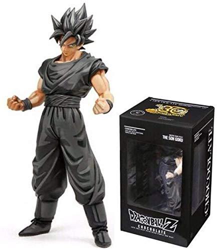 LPJPCR Dragon Ball Z Mangasohn Goku Anime Figuras 29cm MSP Figur Chocolate DBZ Black Model Status 30. Jahrestag