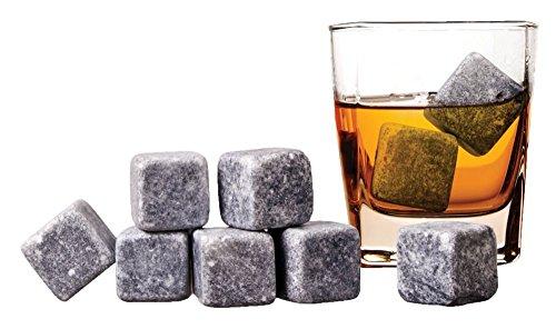 weg-ist-weg.com Wiederverwendbare Eiswürfel/Whisky Steine aus Speckstein, 2,5 x 2,5 cm, Geschmacks- und Geruchsneutral, langanhaltende Kühlwirkung, 9 Stück