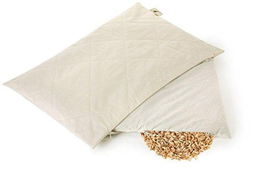 Almohada de cáscara de espelta orgánica Dream & Dreams | Totalmente natural 40 x 60 cm