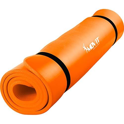 Movit XXL Pilates Gymnastikmatte, Yogamatte, phthalatfrei, 190 x 100 x 1,5cm, Orange