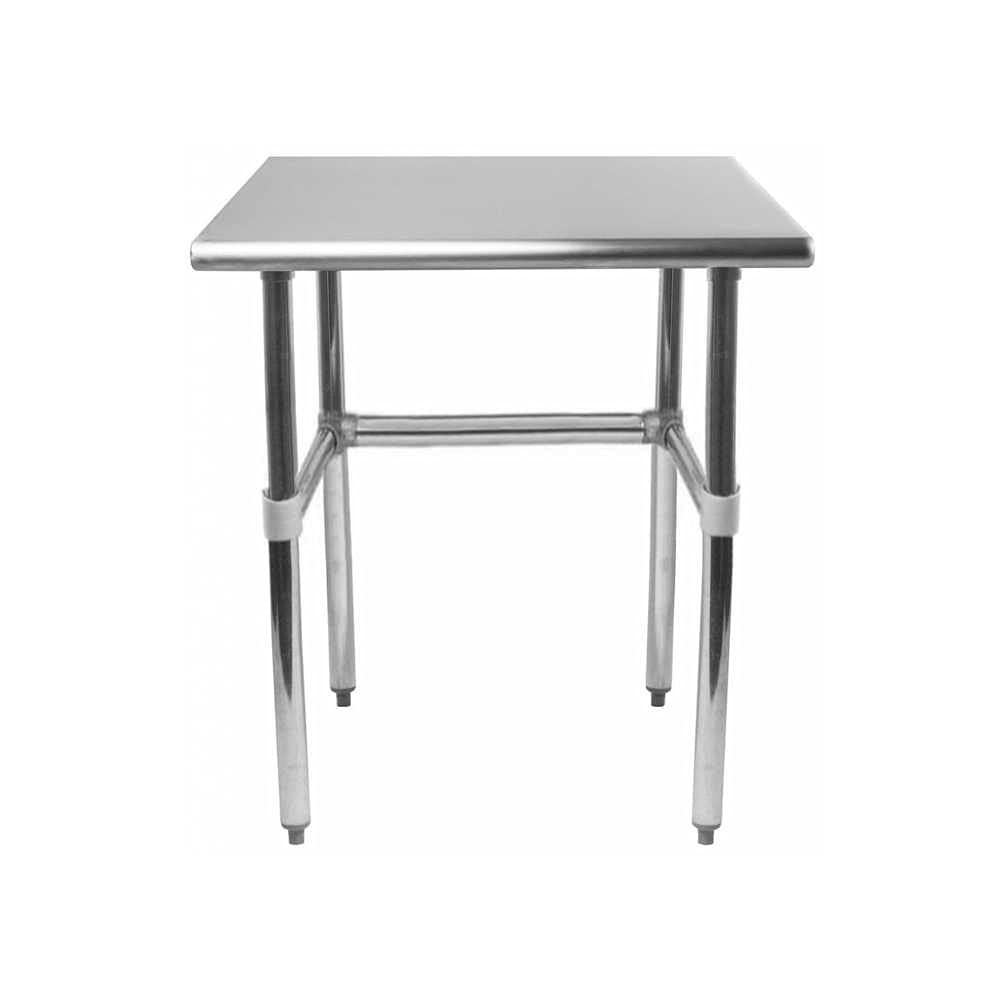 AmGood Stainless Steel Work Table Open Base   NSF Kitchen Island Food Prep   Laundry Garage Utility Bench (24