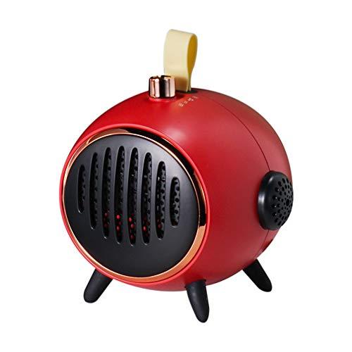 FAEIO Mini Mudo Calentador - 3 Marchas para Ajustar la Velocidad del Viento - Aire purificador - con protección contra sobrecalentamiento Calefactor - para Sala de Estar, Escritorio de Dormitorio Red