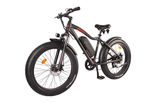 DJ Fat Bike 500W 48V 13Ah Power Electric Bicycle, Matte Black, LED Bike Light, Suspension Fork and Shimano Gear