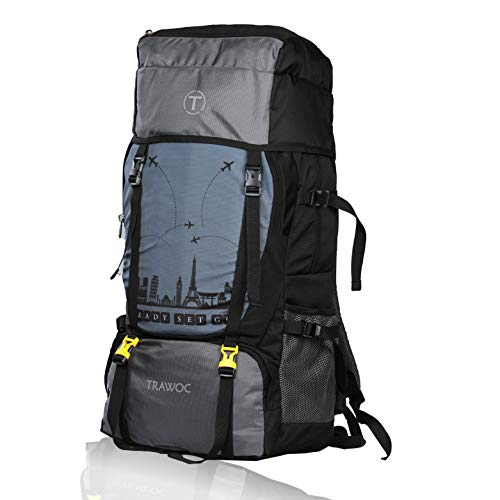 TRAWOC 55 L Travel Backpack for Outdoor Sport Camp Hiking Trekking Bag Camping Rucksack SHK011 1 Year Warranty