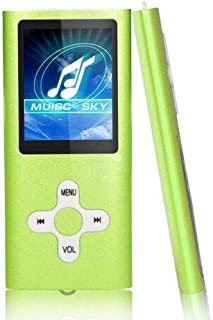 AKDSteel Useful Slim 1.8″ LCD MP4 MP3 Music Media Video Player FM-Radio Recorder (Without Memory) Green Electronic Quality Accessories
