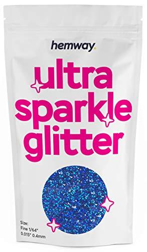 Hemway - Glitter in polvere multiuso da 0,4 mm (375 micron), confezione da 100 g, colori unici da usare per decorazioni fai da te per bicchieri di vino, tavoli da matrimonio, regali, lettere, fiori,