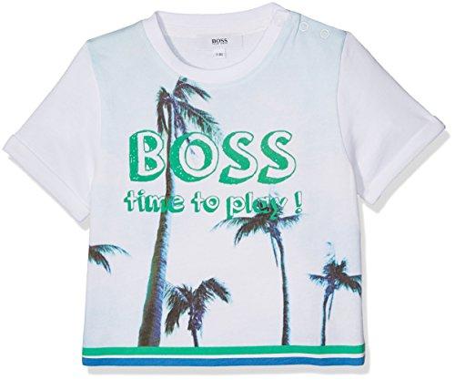 BOSS tee-Shirt Manches Courtes Camiseta, Blanco (Blanco), 6-9 Meses (Talla del Fabricante:...
