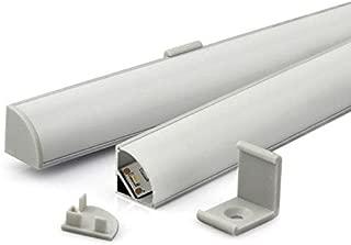 KIT - Perfil aluminio KORK-mini para tiras LED, 2 metros. Instalar tiras de LED en el perfil de aluminio para disipar el calor.