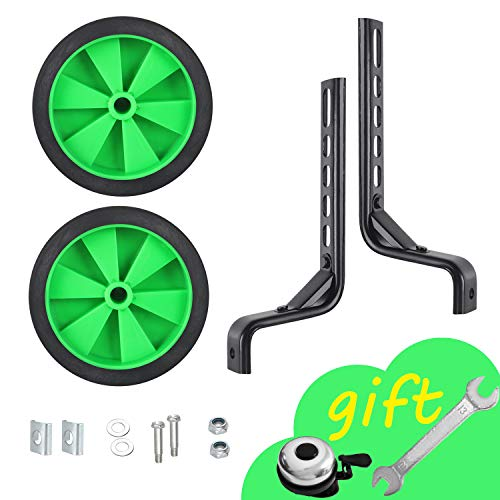 BS-TOP Bicycle Training Wheels, Thicken Stronger Version Heavy Duty Rear Wheel Adjustable Kids Stabilizer Suitable for 12/14/ 16/18/ 20/ inch Children's Single Speed Bike, Including Mounted Kit
