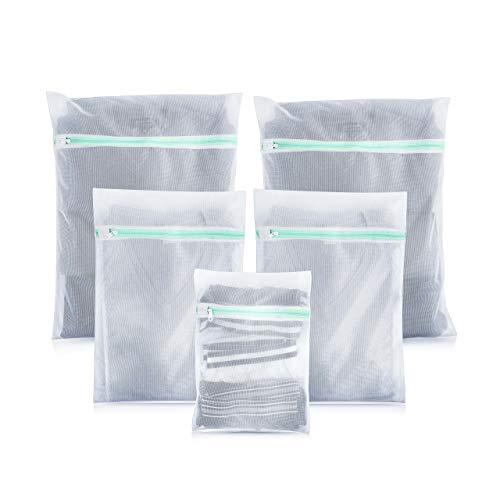 Lavandola® Premium Wäschenetz (5er-Set) für Waschmaschine - ideal für empfindliche Dessous, BH und Schuhe - Überzeugende Qualität - Hochwertige Wäschesäcke - Wäschenetze Set mit 2 Jahren Garantie