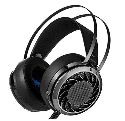 Faus Koco Casque De Jeu Stéréo Professionnel De 3,5 Mm pour Casque De Basse Casque avec Serre-tête Confortable pour Le Bruit Isolé De L'oreille Noire