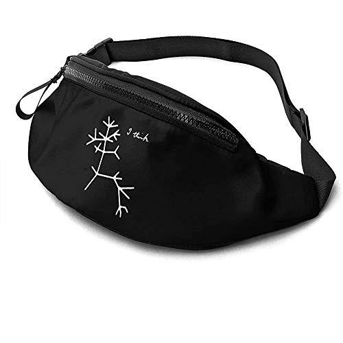 NA Darwin I Think Tree Runner's Fanny Bag Waist Pack Réglable Sangles Poche avec Prise Casque pour Unisexe