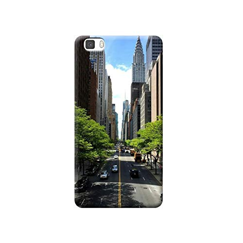 TheBigStock Cover Custodia per Huawei P20 P10 P9 P8 Lite Smart Plus 2015 2017 Morbida TPU 4 - S15 New York Strada Empire State Building, P20