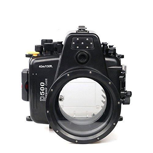 Polaroid SLR Dive carcasa contenedora submarina impermeable calificada para la Nikon 80D con lente de 105 mm