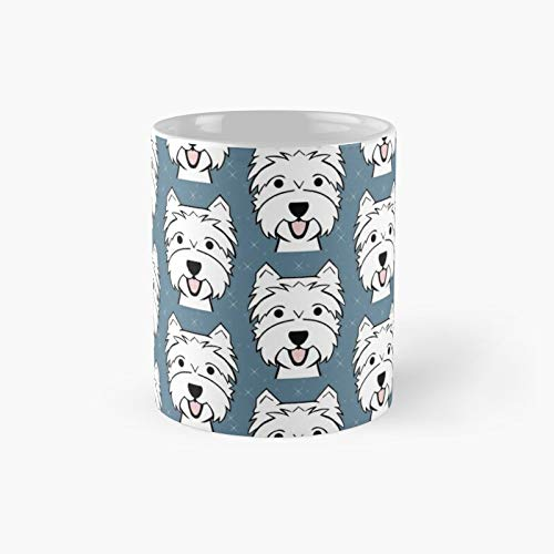 West Highland Terrier - Westies Westie Dogs Blue Classic Mug Best Gift Funny Coffee Mugs 11 Oz