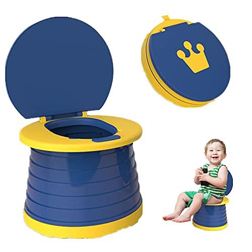 Sedile vasino portatile, sedile del water pieghevole vasino, sedia da toilette per bambini da allenamento WC di emergenza per campeggio in auto all'aperto (blu)