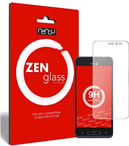 ZenGlass (2 Stück Flexible Glas-Folie kompatibel mit Doro 8035 Panzerfolie I Bildschirm-Schutzfolie 9H